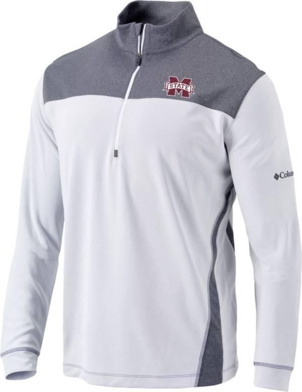 Columbia Men's Mississippi State Bulldogs Omni-Wick Standard Quarter-Zip White Shirt product image