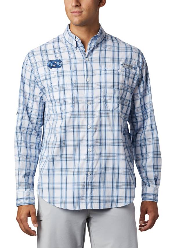 Columbia Men's North Carolina Tar Heels Carolina Blue Long Sleeve Tamiami Shirt product image