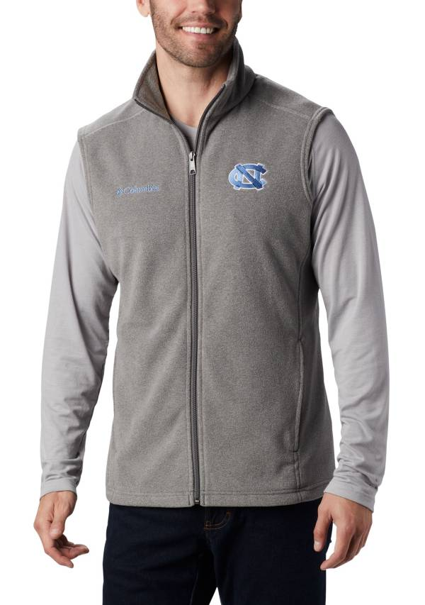 Columbia Men's North Carolina Tar Heels Grey Flanker Full-Zip Fleece Vest II product image