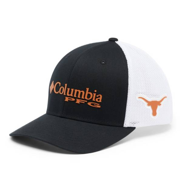 Columbia Men's Texas Longhorns PFG Mesh Fitted Black Hat product image