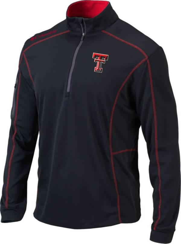 Columbia Men's Texas Tech Red Raiders Shotgun Quarter-Zip Black Shirt product image