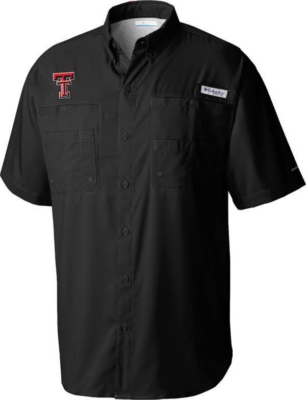 Columbia Men's Texas Tech Red Raiders Tamiami Performance Black Shirt product image