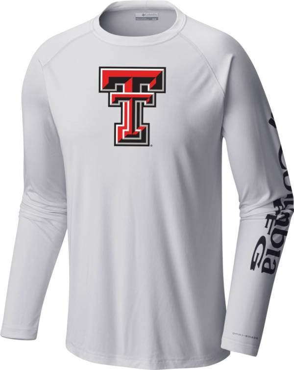 Columbia Men's Texas Tech Red Raiders Terminal Tackle Long Sleeve White T-Shirt product image