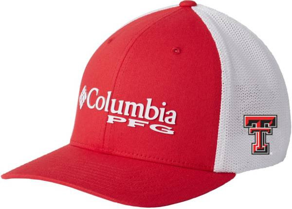 Columbia Men's Texas Tech Red Raiders Red PFG Mesh Fitted Hat product image