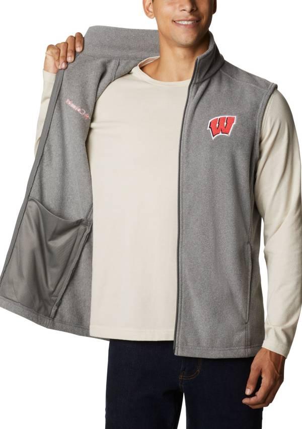 Columbia Men's Wisconsin Badgers Grey Flanker Full-Zip Fleece Vest II product image