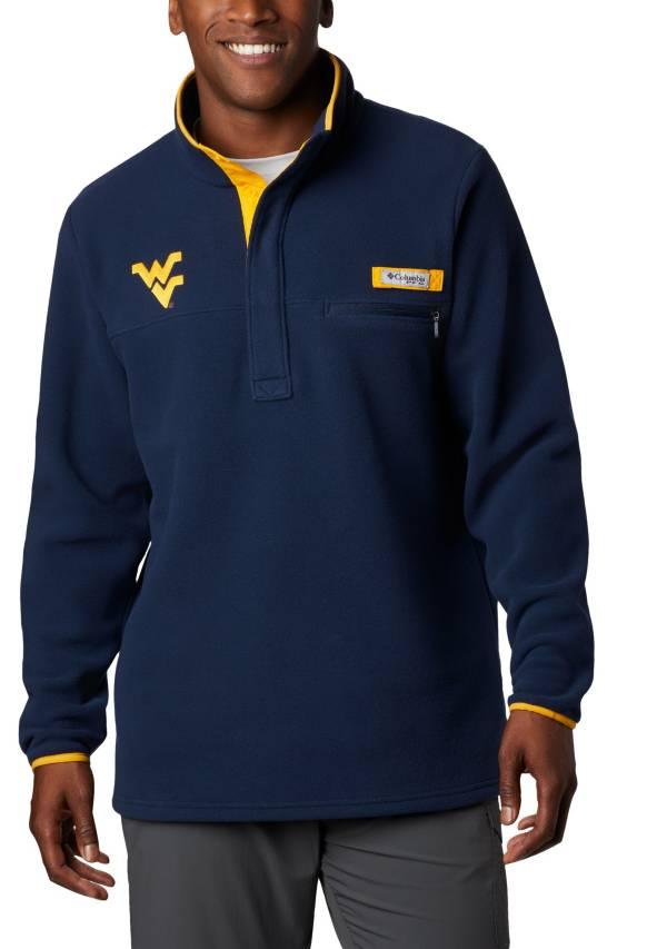 Columbia Men's West Virginia Mountaineers Blue Harborside Fleece Pullover product image