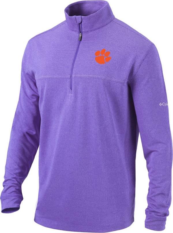 Columbia Men's Clemson Tigers Regalia Omni-Wick Soar Half-Zip Pullover Shirt product image