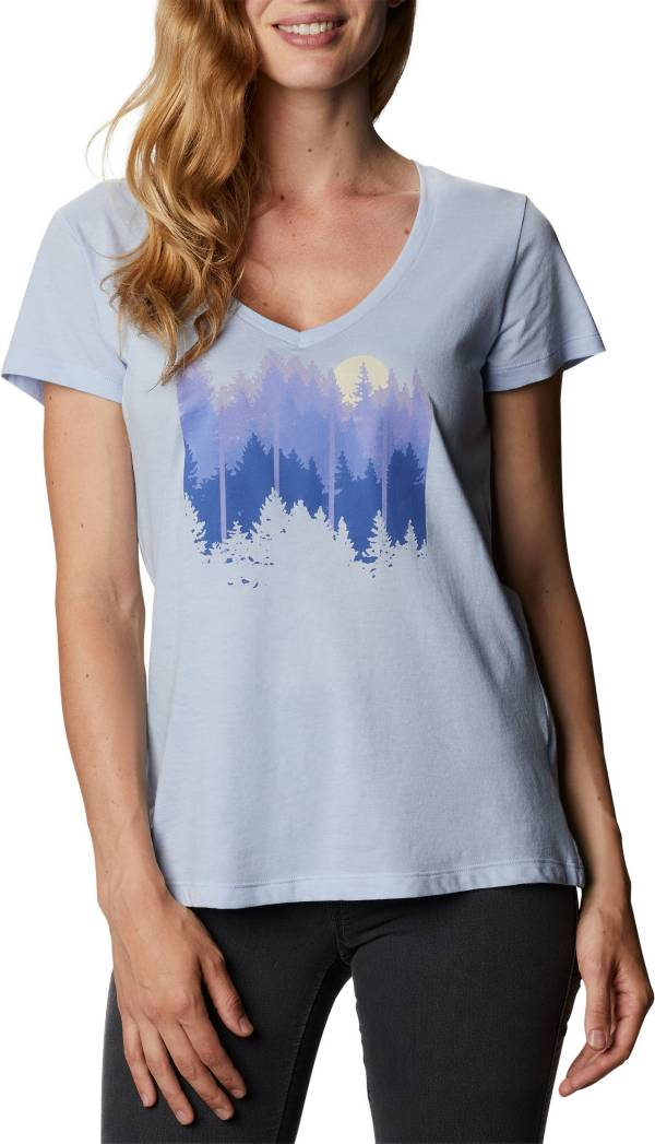 Columbia Women's Daisy Days V Neck Graphic T-Shirt product image