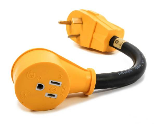 """Camco RV PowerGrip 12"""" 30AM / 15AF Dogbone Electrical Adapter product image"""