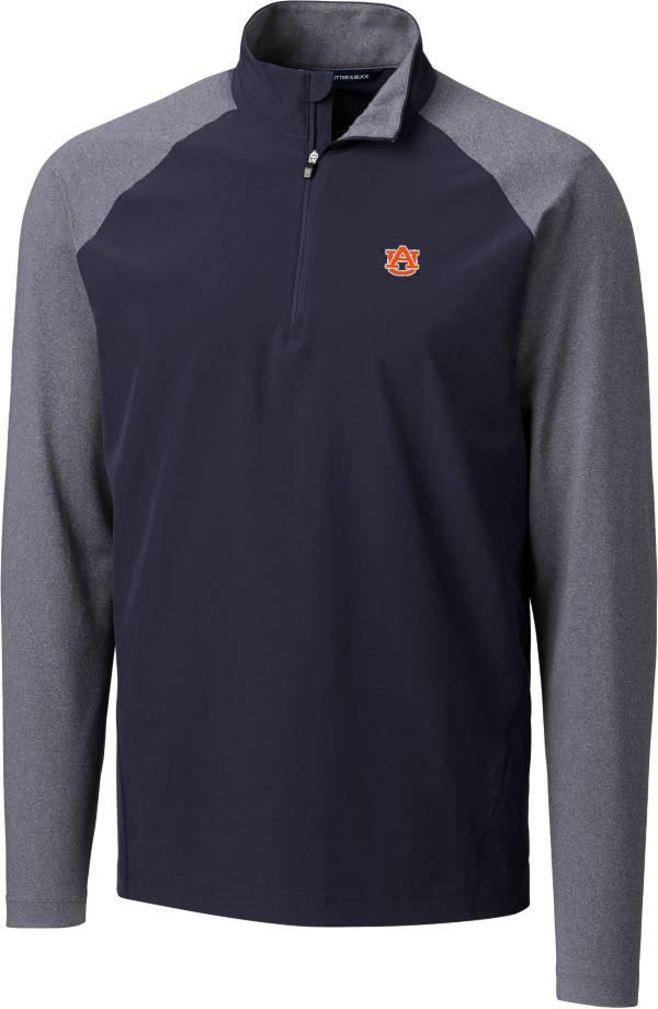 Cutter & Buck Men's Auburn Tigers Blue Response Half-Zip Shirt product image