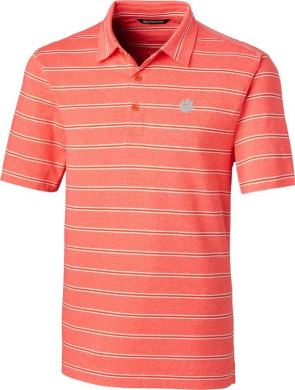 Cutter & Buck Men's Clemson Tigers Orange Forge Polo product image