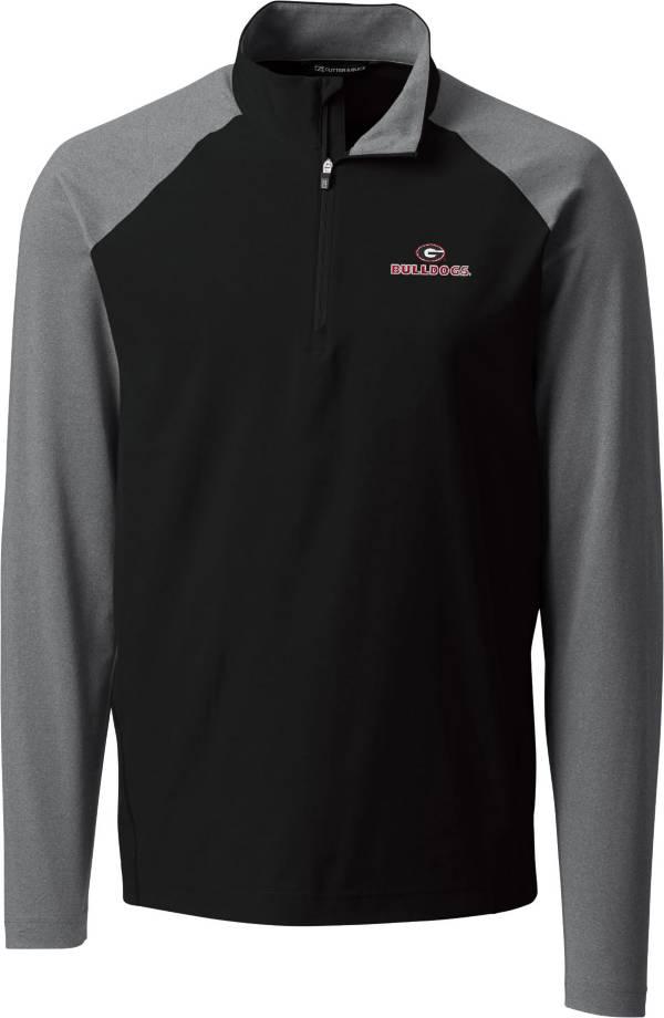 Cutter & Buck Men's Georgia Bulldogs Response Half-Zip Black Shirt product image
