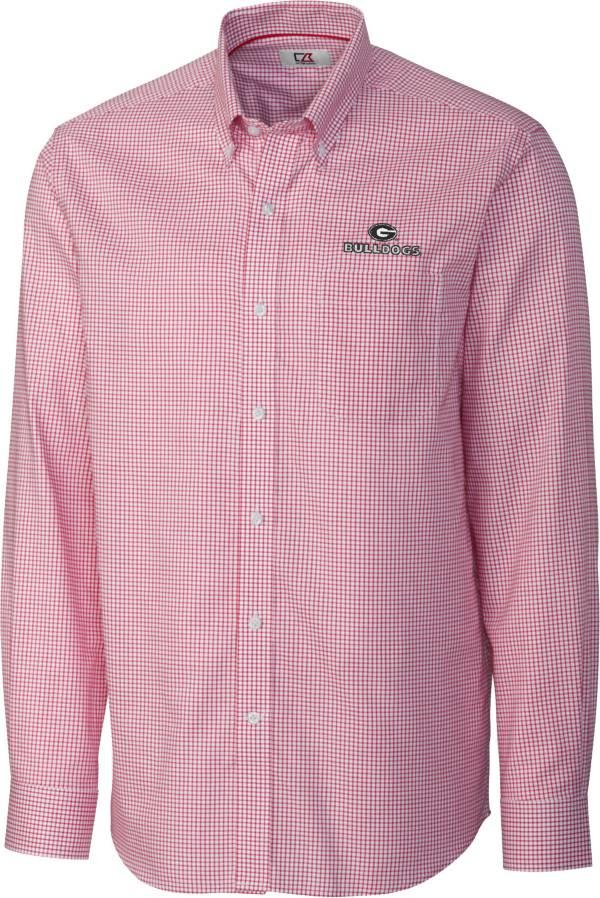 Cutter & Buck Men's Georgia Bulldogs Red Epic Long Sleeve Button-Down Shirt product image