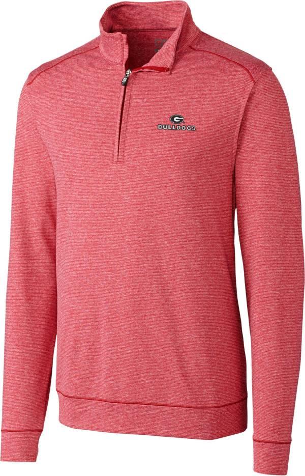 Cutter & Buck Men's Georgia Bulldogs Red Shoreline Half-Zip Shirt product image