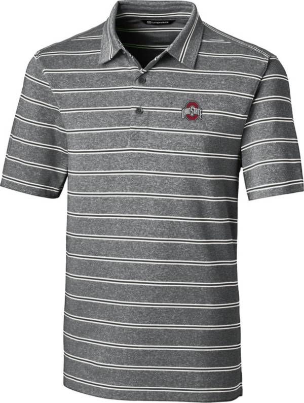 Cutter & Buck Men's Ohio State Buckeyes Forge Black Polo product image