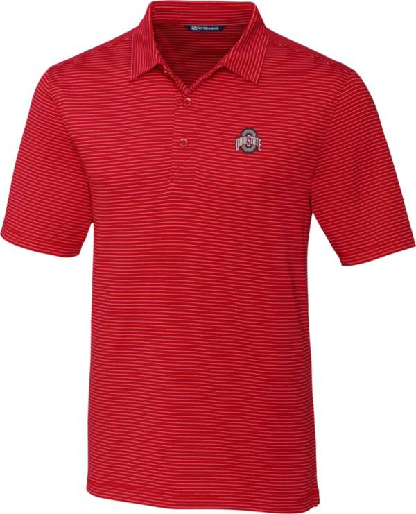 Cutter & Buck Men's Ohio State Buckeyes Scarlet Forge Polo product image