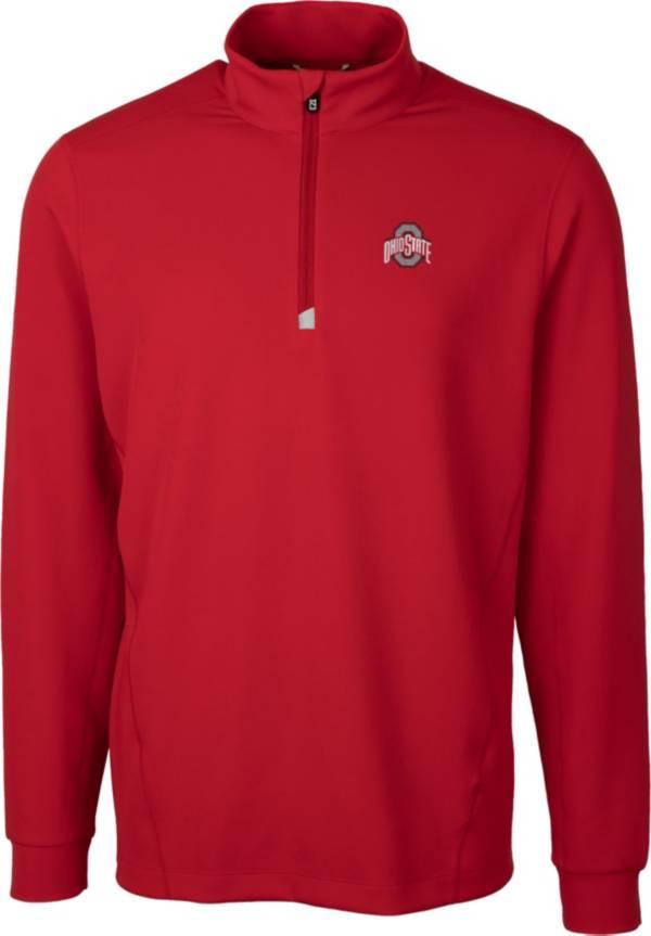 Cutter & Buck Men's Ohio State Buckeyes Scarlet Traverse Half-Zip Shirt product image
