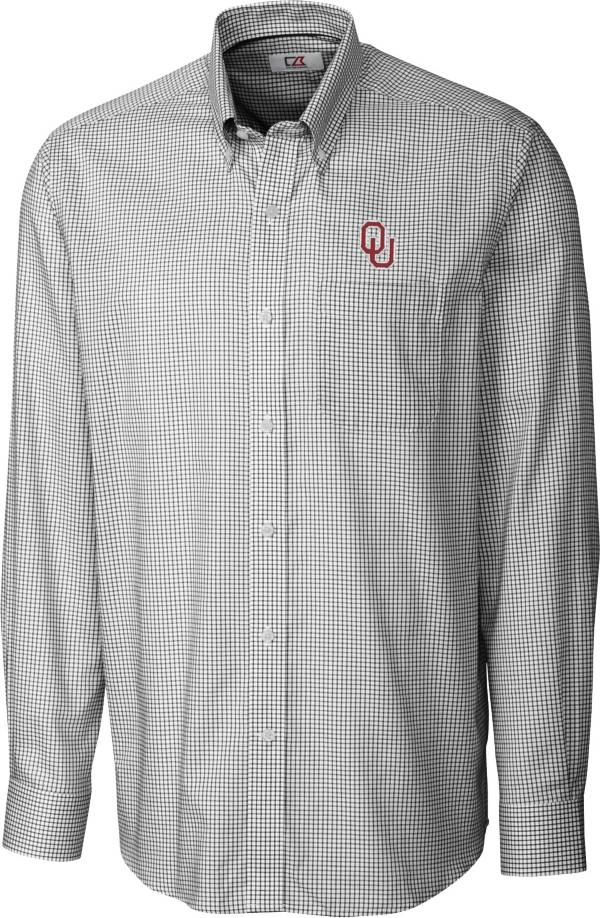 Cutter & Buck Men's Oklahoma Sooners Epic Long Sleeve Button-Down Black Shirt product image