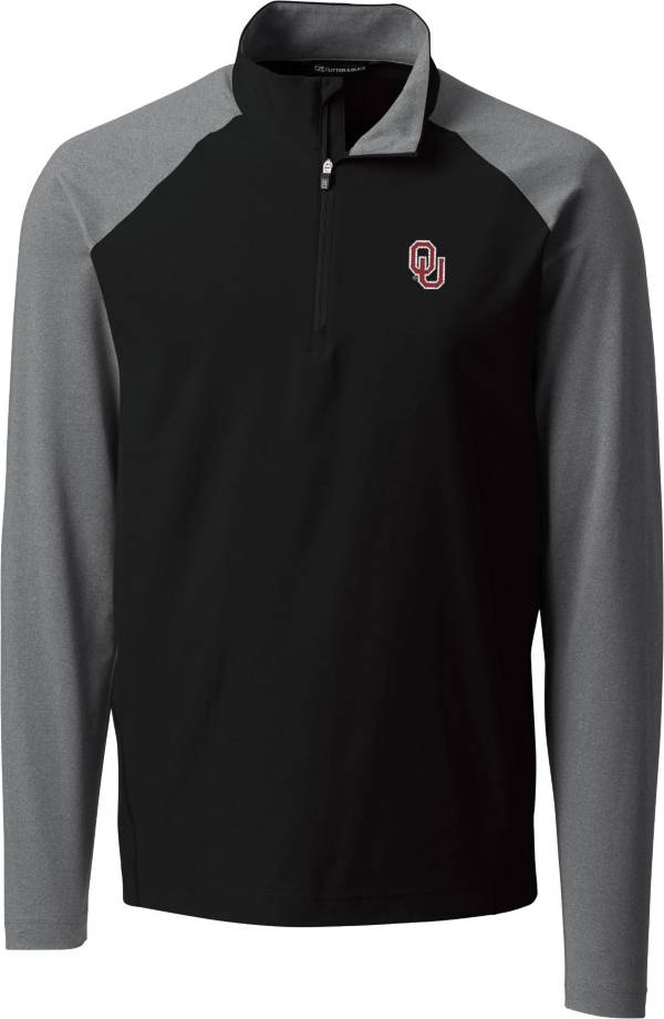 Cutter & Buck Men's Oklahoma Sooners Response Half-Zip Black Shirt product image