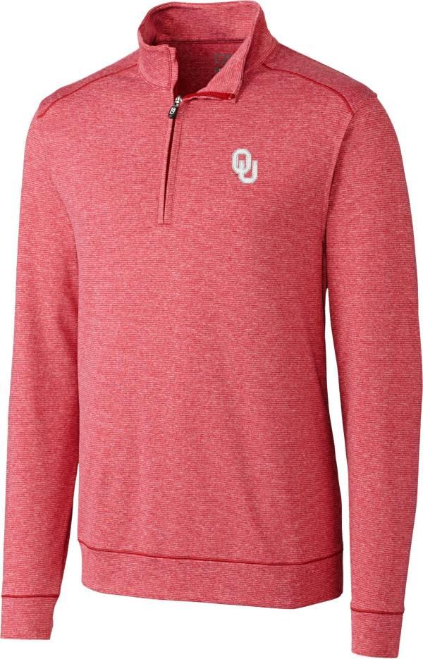 Cutter & Buck Men's Oklahoma Sooners Crimson Shoreline Half-Zip Shirt product image