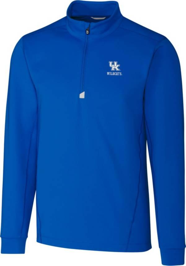Cutter & Buck Men's Kentucky Wildcats Blue Traverse Half-Zip Shirt product image
