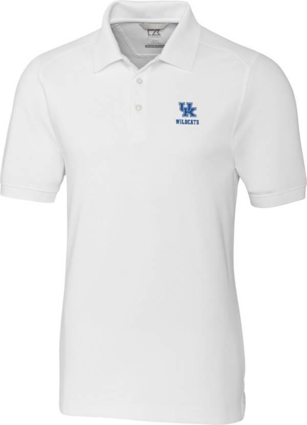 Cutter & Buck Men's Kentucky Wildcats Advantage Long Sleeve White Polo product image