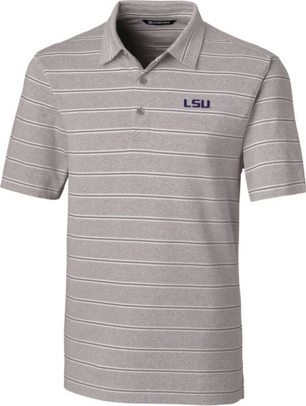 Cutter & Buck Men's LSU Tigers Grey Forge Polo product image