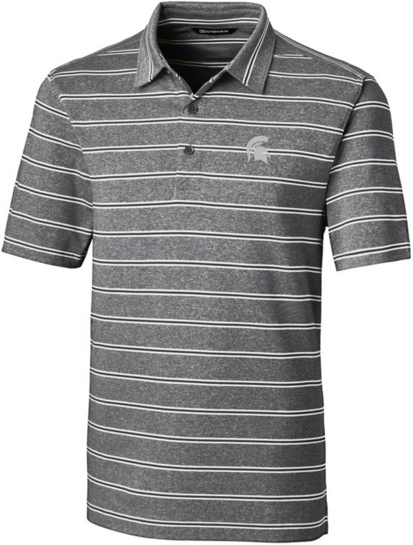 Cutter & Buck Men's Michigan State Spartans Forge Black Polo product image