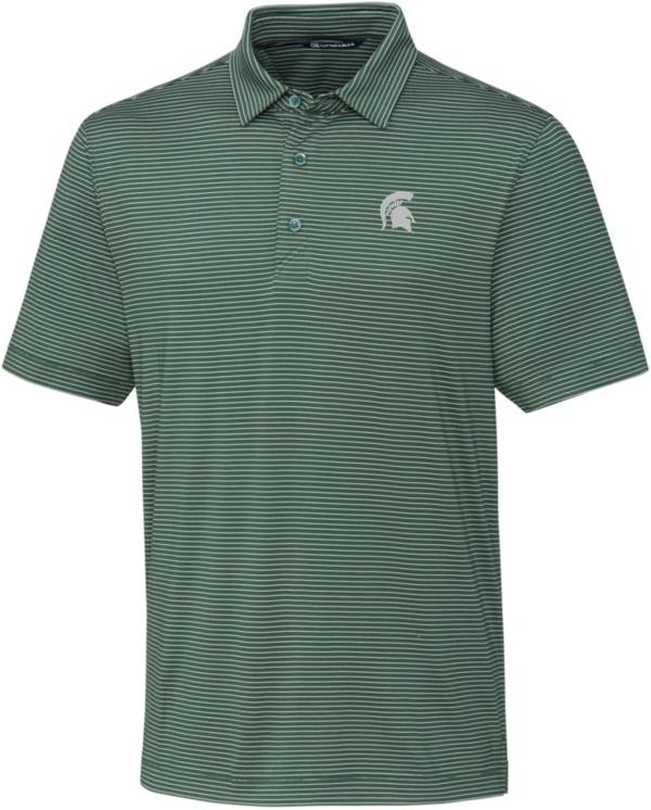 Cutter & Buck Men's Michigan State Spartans Green Forge Polo product image