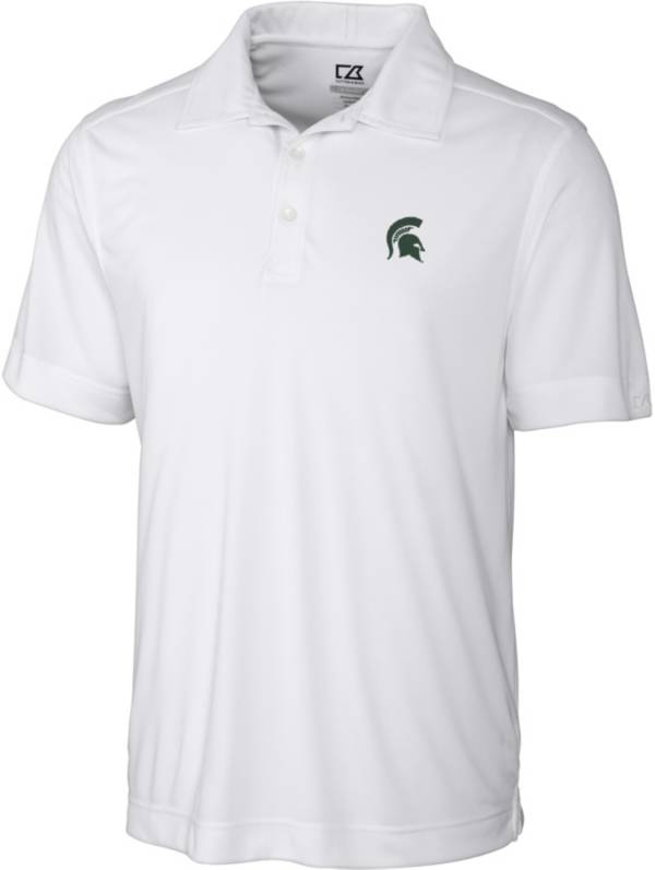 Cutter & Buck Men's Michigan State Spartans Northgate White Polo product image
