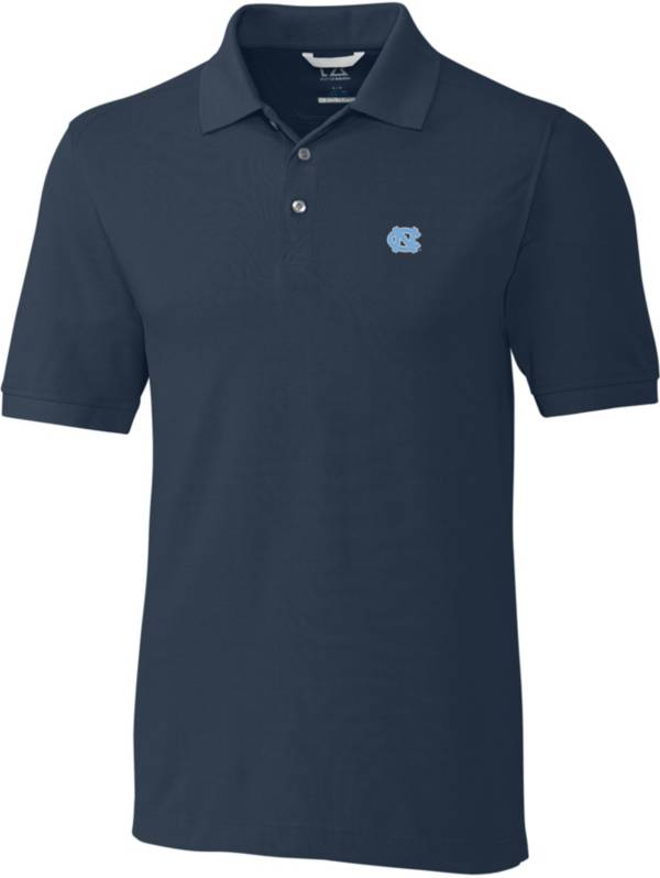 Cutter & Buck Men's North Carolina Tar Heels Navy Advantage Long Sleeve Polo product image