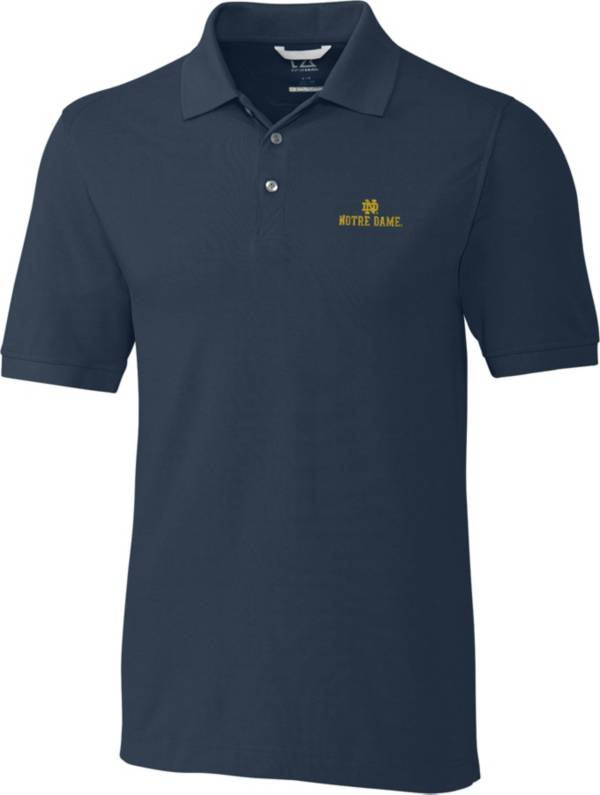 Cutter & Buck Men's Notre Dame Fighting Irish Navy Advantage Long Sleeve Polo product image