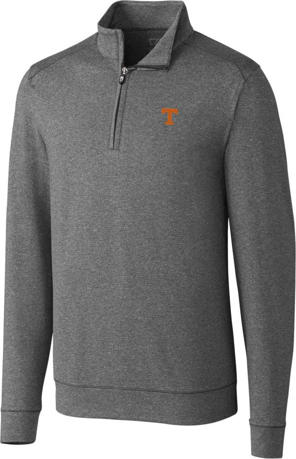 Cutter & Buck Men's Tennessee Volunteers Grey Shoreline Half-Zip Shirt product image