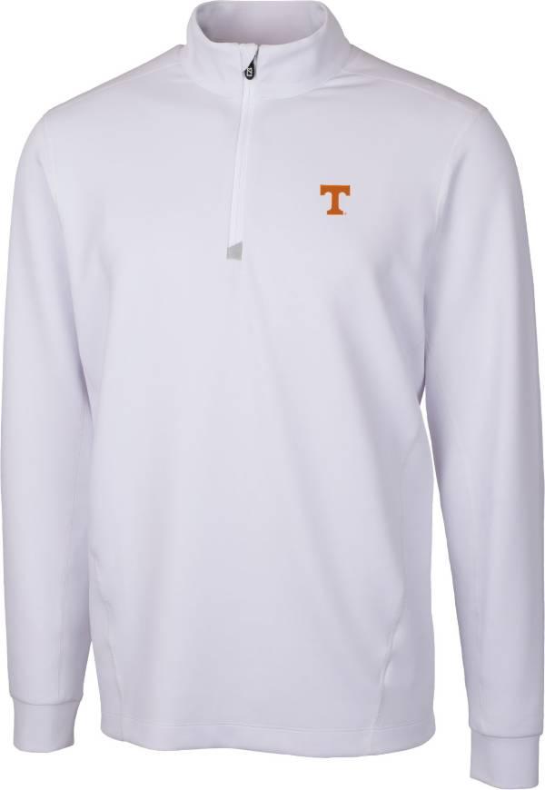Cutter & Buck Men's Tennessee Volunteers White Traverse Half-Zip Shirt product image