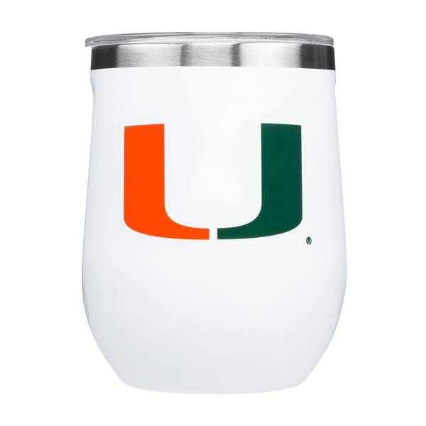 Corkcicle Miami Hurricanes 12oz. Stemless Glass product image