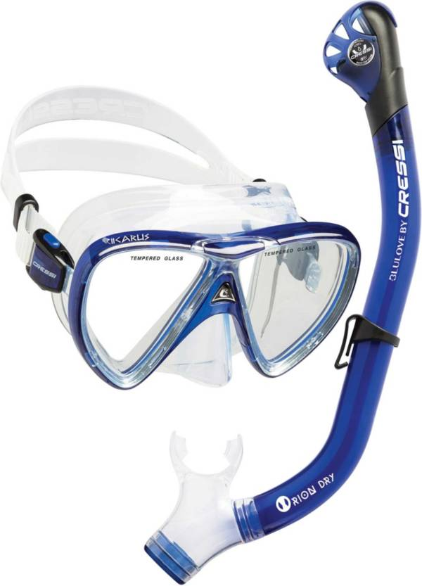Cressi Ikarus Orion Dry Snorkel Mask Combo product image
