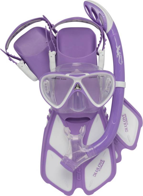 Cressi Youth Mini Bonete Pro Dry Snorkeling Set product image