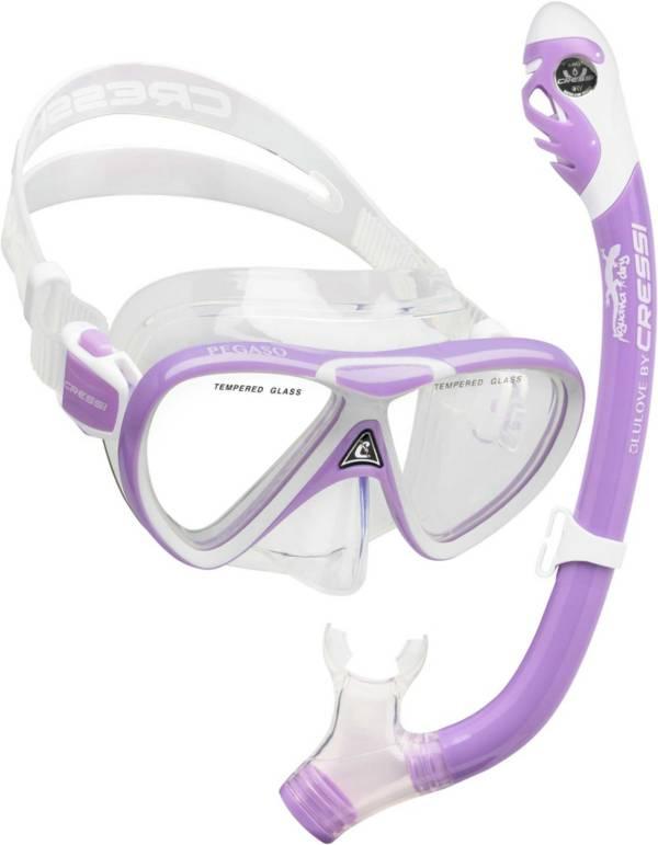 Cressi Youth Pegaso/Iguana Dry Snorkle Combo product image