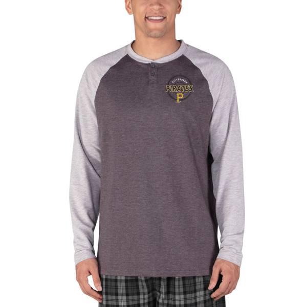Concepts Sport Men's Pittsburgh Pirates Raglan Long Sleeve T-Shirt product image