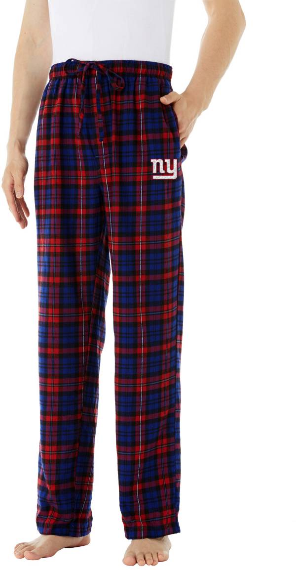 Concepts Sport Men's New York Giants Parkway Blue Flannel Pants product image