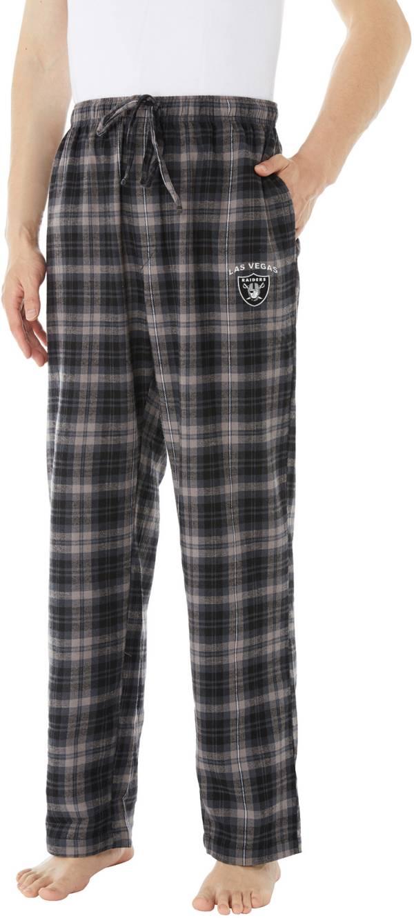 Concepts Sport Men's Las Vegas Raiders Parkway Black Flannel Pants product image