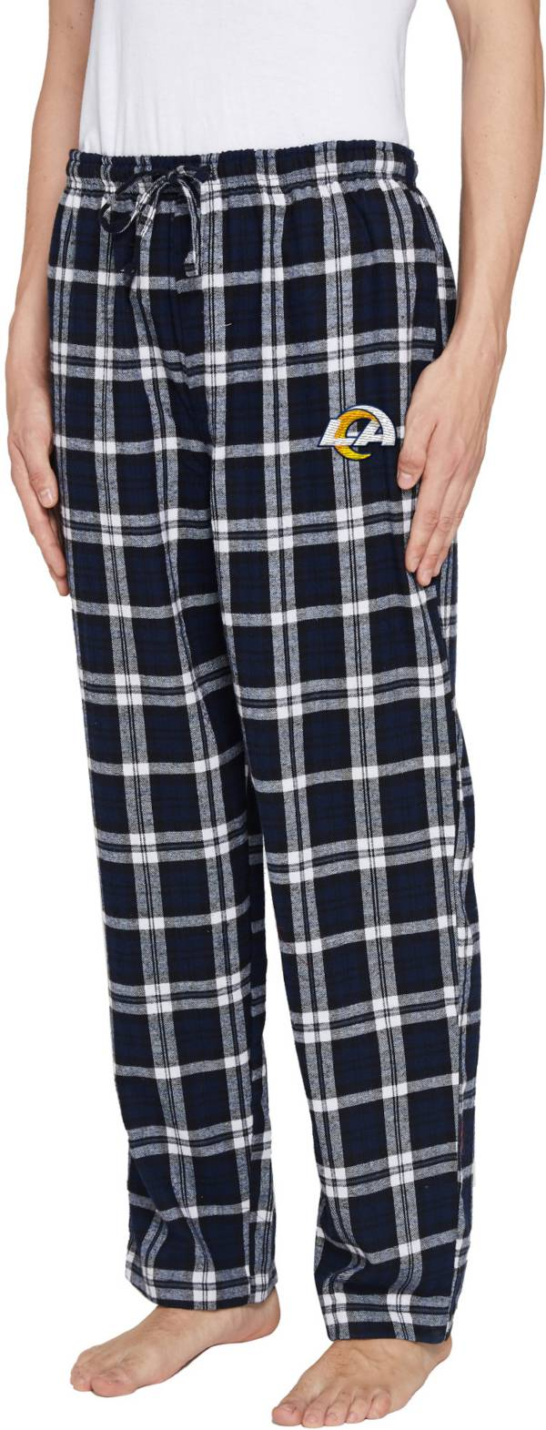 Concepts Sport Men's Los Angeles Rams Parkway Navy Flannel Pants product image