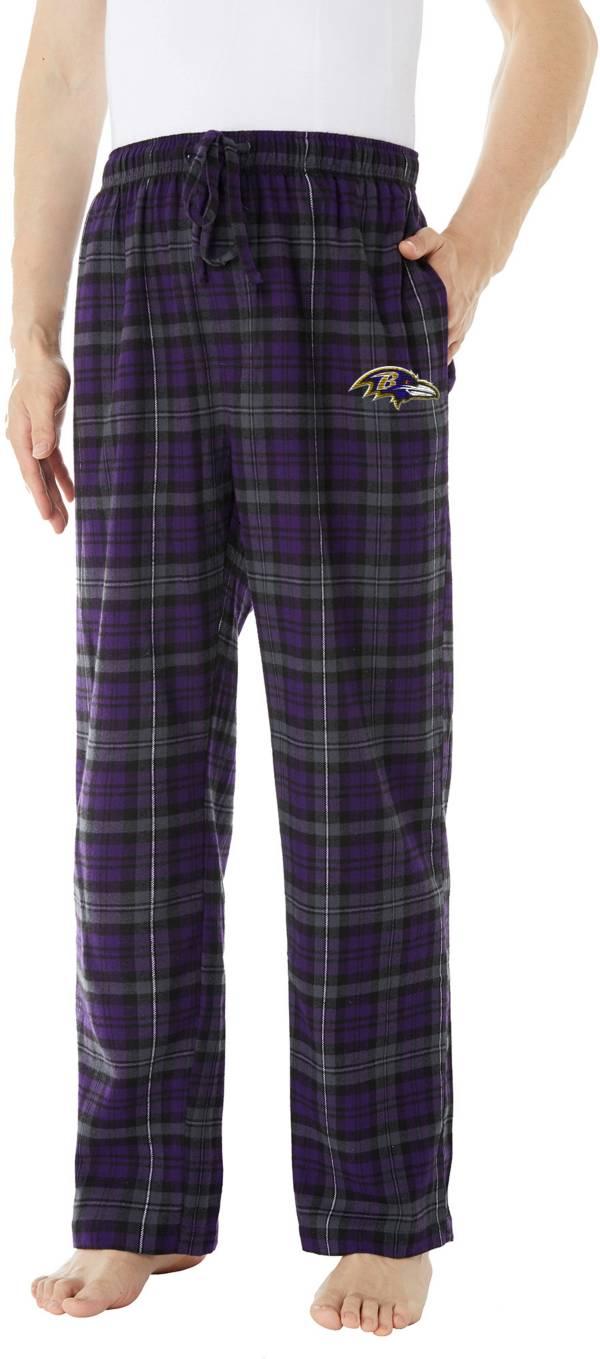 Concepts Sport Men's Baltimore Ravens Parkway Purple Flannel Pants product image