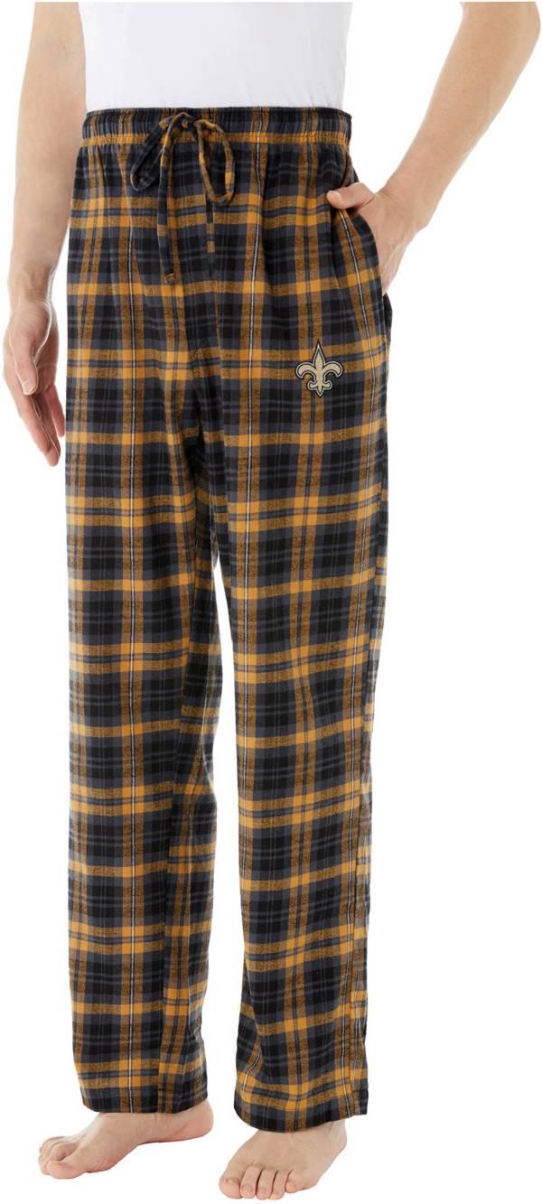 Concepts Sport Men's New Orleans Saints Parkway Black Flannel Pants product image