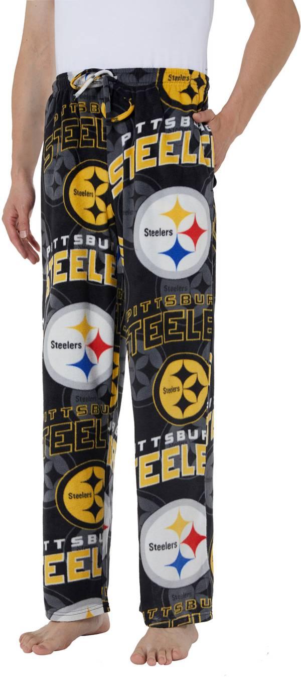 Concepts Sport Men's Pittsburgh Steelers Pinnacle Black Fleece Pants product image