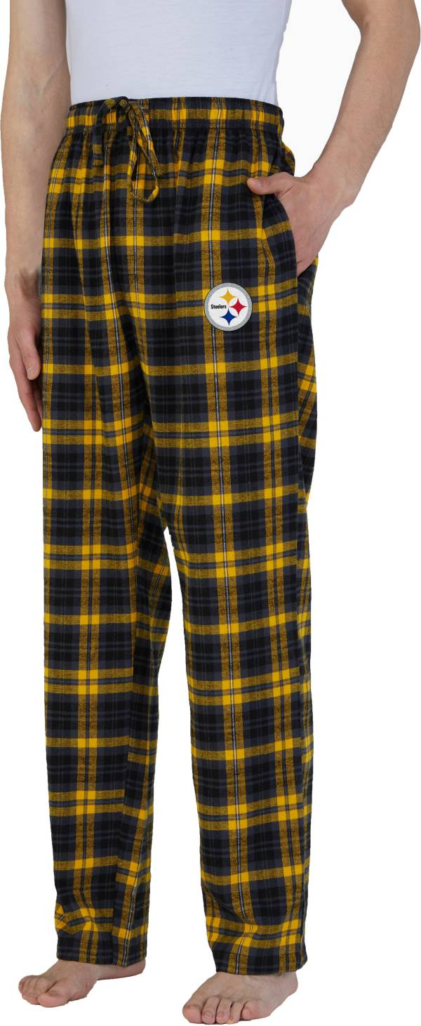 Concepts Sport Men's Pittsburgh Steelers Parkway Black Flannel Pants product image