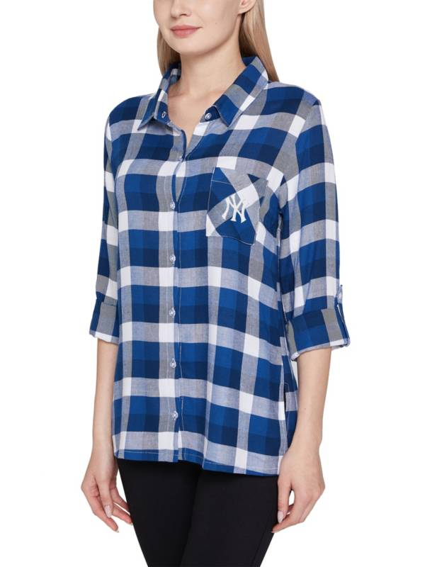 Concepts Sport Women's New York Yankees Navy Long Sleeve Button-Up Night T-Shirt product image