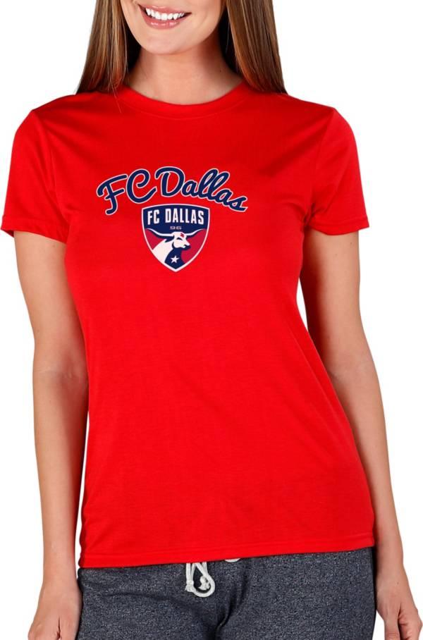 Concepts Sport Women's FC Dallas Marathon Red Short Sleeve Top product image