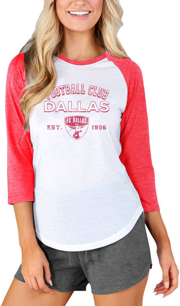 Concepts Sport Women's FC Dallas Crescent White Long Sleeve Top product image