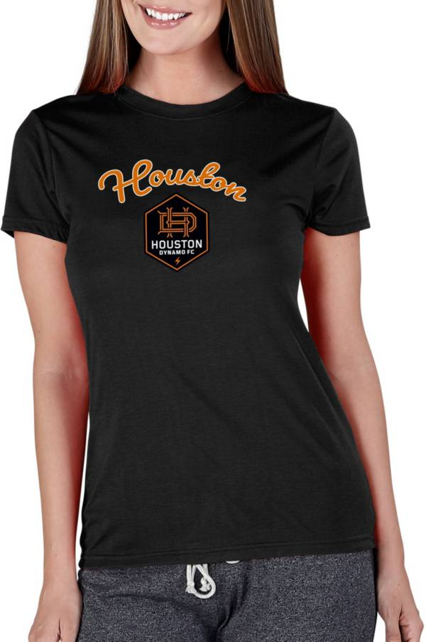 Concepts Sport Women's Houston Dynamo Marathon Black Short Sleeve Top product image